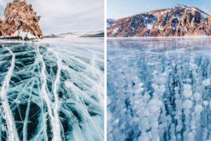 Imagens Deslumbrantes Mostram a Beleza Do Inverno No Lago Mais Profundo Do Mundo 10