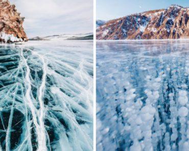 Imagens Deslumbrantes Mostram a Beleza Do Inverno No Lago Mais Profundo Do Mundo 3