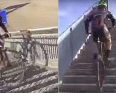 Ciclista Mostra Como Atravessar Uma Estrada Movimentada Em Grande Estilo 2