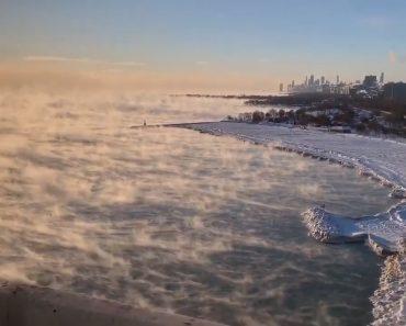 Temperaturas Negativas Transformam Lago Gelado Em Cenário De Filme Apocalíptico 6