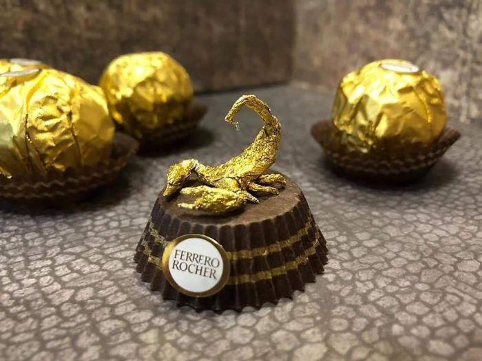 Artista Cria Esculturas Fantásticas Com o Papel Dos Chocolates Ferrero Rocher 10