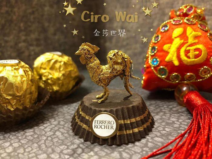 Artista Cria Esculturas Fantásticas Com o Papel Dos Chocolates Ferrero Rocher 11