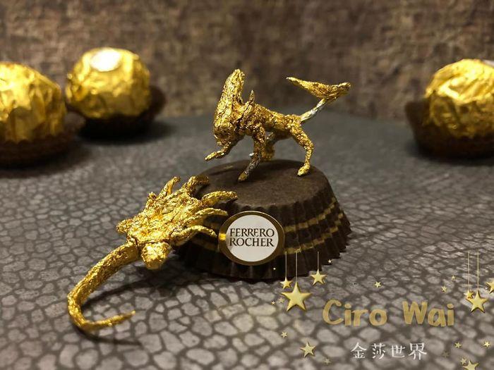 Artista Cria Esculturas Fantásticas Com o Papel Dos Chocolates Ferrero Rocher 12