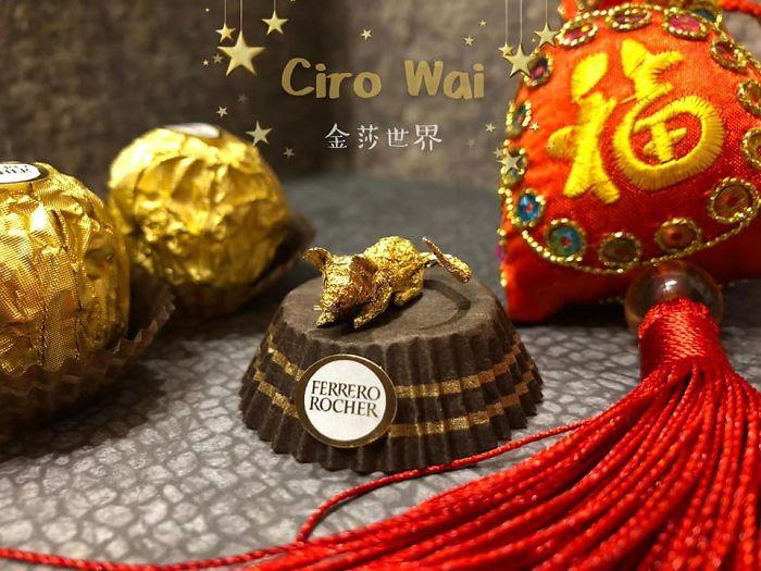 Artista Cria Esculturas Fantásticas Com o Papel Dos Chocolates Ferrero Rocher 13