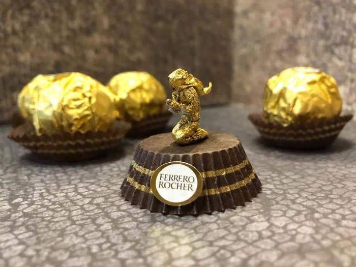 Artista Cria Esculturas Fantásticas Com o Papel Dos Chocolates Ferrero Rocher 16