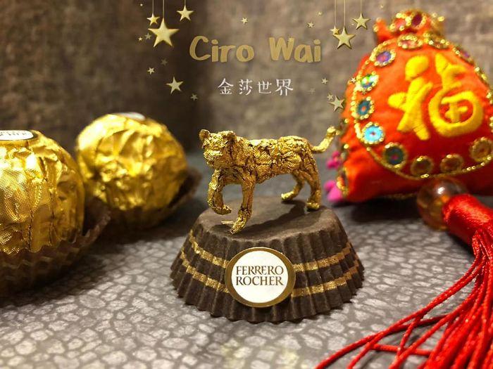Artista Cria Esculturas Fantásticas Com o Papel Dos Chocolates Ferrero Rocher 17