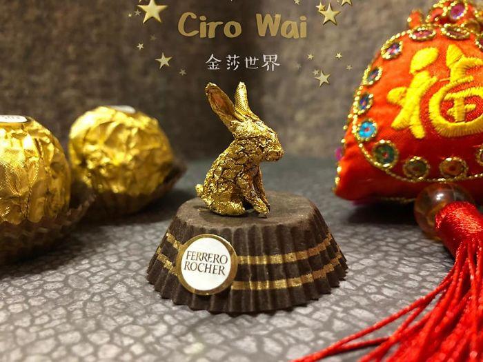 Artista Cria Esculturas Fantásticas Com o Papel Dos Chocolates Ferrero Rocher 2