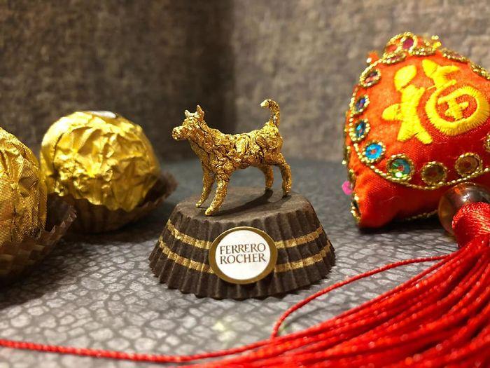 Artista Cria Esculturas Fantásticas Com o Papel Dos Chocolates Ferrero Rocher 21