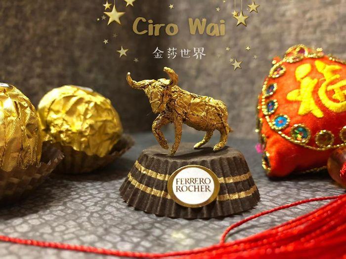 Artista Cria Esculturas Fantásticas Com o Papel Dos Chocolates Ferrero Rocher 3