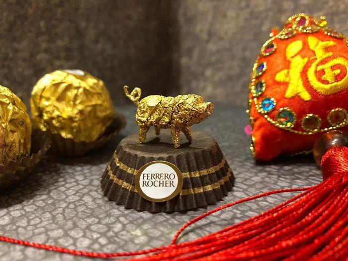 Artista Cria Esculturas Fantásticas Com o Papel Dos Chocolates Ferrero Rocher 5