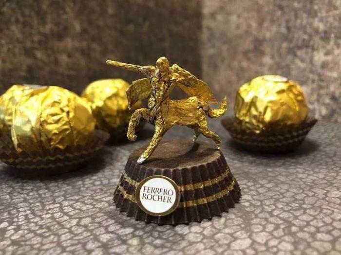 Artista Cria Esculturas Fantásticas Com o Papel Dos Chocolates Ferrero Rocher 6