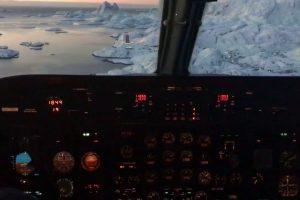 Filmagem a Partir De Cockpit Capta a Beleza Única Da Gronelândia Durante Aterragem 10