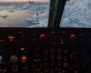Filmagem a Partir De Cockpit Capta a Beleza Única Da Gronelândia Durante Aterragem 4
