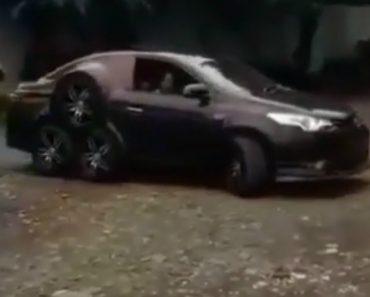 Nova Criação Inútil: Um Carro Com 8 Rodas 8