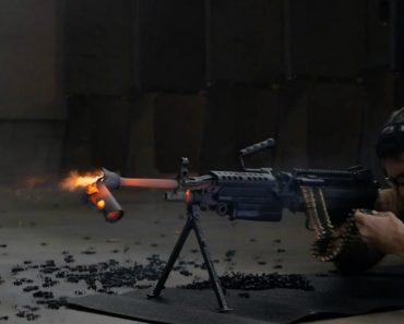 Silenciador Falha Teste Com 700 Disparos Contínuos De Metralhadora 1