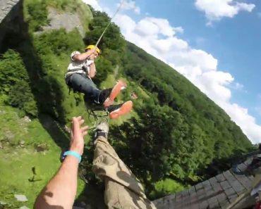 Usando Apenas 2 Cordas, Dupla De Amigos Tem Alucinante Experiência Ao Saltar De Ponte 7