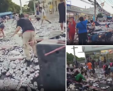 Happy Hour… Camião Perdeu 80 Mil Latas De Cerveja e Foi a Loucura Nas Ruas 7