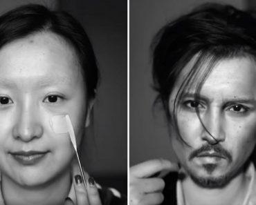 Chinesa Transforma-se Em Johnny Depp Apenas Com o Uso De Maquilhagem 1