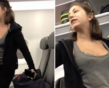 Mulher Expulsa De Avião Após Cuspir, Gritar e Insultar Passageiros 9