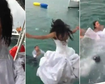 Noiva Quase Se Afoga Ao Atirar-se Ao Mar Durante Festa De Casamento 8