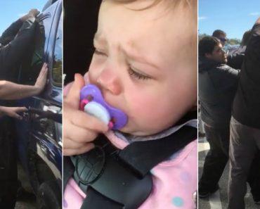 Reclusos Ajudam a Abrir Carro Com Bebé Trancada No Interior 3