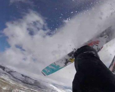 Esquiador Filma o Aflitivo Momento Em Que Fica Soterrado Por Causa De Avalanche 3