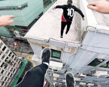 Alucinados Fazem Arriscado Parkour No Topo De Edifícios Em Hong Kong 5