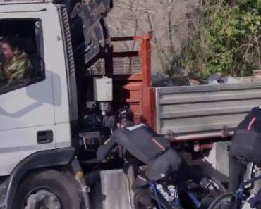 Ciclista Sofre Arrepiante Acidente Ao Embater Com a Cabeça Num Camião 5