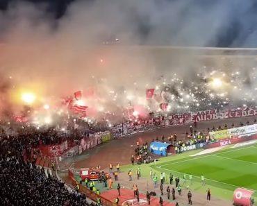 O Arrepiante Ambiente Vivido No Duelo Estrela Vermelha-Partizan 7