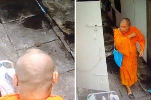 Monge Filmado Por Câmaras De Vigilância a Roubar Roupa Interior Feminina De Estendal 10