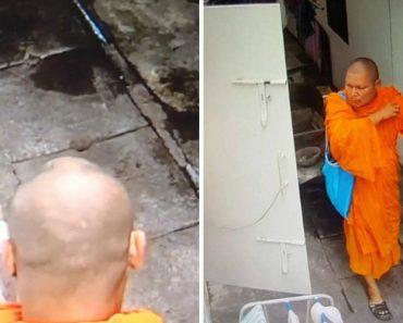Monge Filmado Por Câmaras De Vigilância a Roubar Roupa Interior Feminina De Estendal 1
