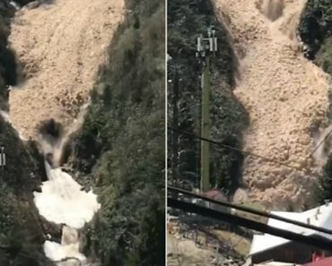 "Cachoeira ""Desaparece"" Ao Ser Dominada Por Avalanche 6"