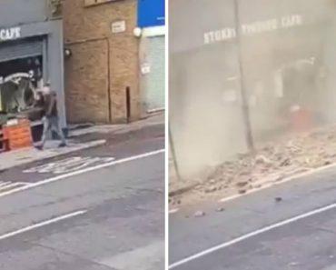 Homem Escapa Por Segundos a Queda De Telhado 2