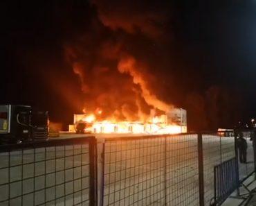 As Imagens Do Incêndio Que Destruiu 23 Motos Do MotoE 1