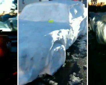 Polícia Viu Carro Estacionado Em Segunda Fila Mas Era... Só Neve 4