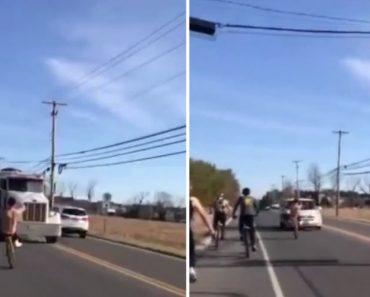 Idiota Desafia a Sorte Ao Andar De Bicicleta Em Contramão e Indo Em Direção Aos Veículos 3