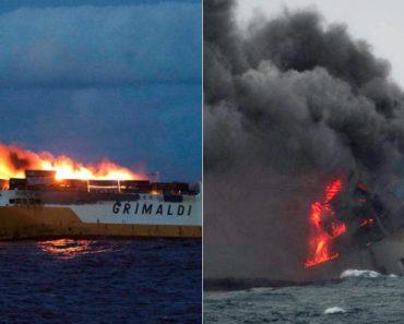 Navio De Carga Com 2210 Carros Afundou No Oceano Atlântico 6