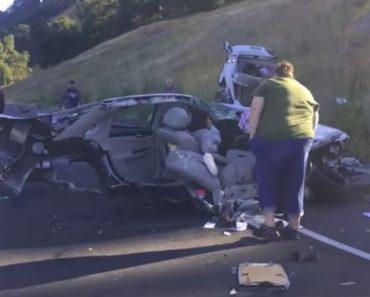 Carro Fica Dividido Em Dois Durante Acidente e Ocupante Escapa Praticamente Ilesa 2