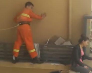 Bombeiro Evita Suicídio De Mulher Num Prédio a Quase 50 Metros De Altura 1