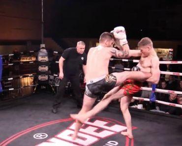 Lutador De Muay Thai Aplica Golpe De Génio Enquanto Cai 6
