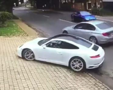 Assaltante Armado Tenta Roubar Porsche Mas Hábil Condutor Foi Mais Rápido 1