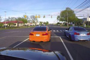 Condutores De Dois BMW M3 Começam Corrida Na Estrada Sem Perceberem Que Atrás Estava Um Carro Policial 10