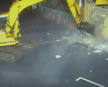 Ladrões Usam Escavadora Para Roubar Uma Caixa Multibanco 8