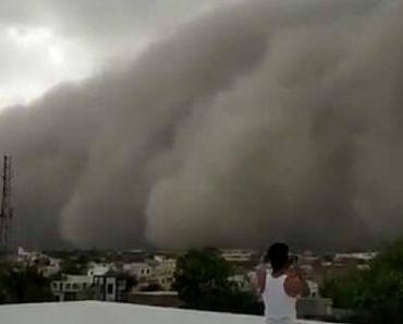 População Filma Impressionante Tempestade De Areia Que Transformou Dia Em Noite 4