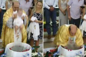 Padre Exagera Na Forma Como Submerge Bebé Durante Batizado 10