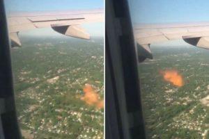 Motor De Avião Larga Chamas Depois De Embater Contra Um Pássaro 8