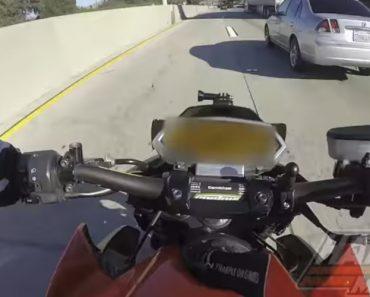 Motociclista Despista-se e Sobrevive Após Passar Por Baixo De Camião 6