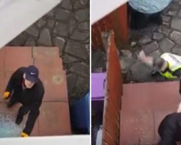 Homem Filma Ladrão a Arrombar a Porta Da Sua Casa Enquanto Espera Pacientemente Pela Chegada Da Polícia 6