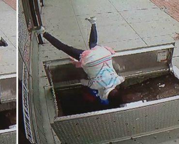 Pedestre Distraída Com Telefone Cai Em Buraco De 2 Metros Depois De Tropeçar Em Porta De Conduta De Gás 5