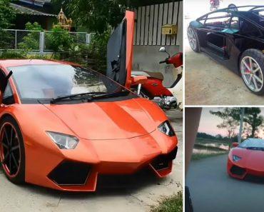 Tailandês Constrói à Mão e a Partir Do Zero o Seu Próprio Lamborghini 5